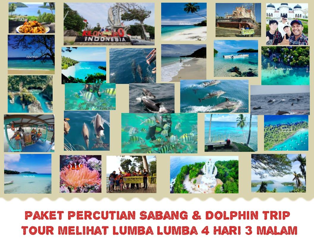 Ground Pakej Percutian ke Sabang Dolphin Trip – Lawatan Menonton Lumba-lumba di Pulau Weh, Aceh 4 Hari 3 Malam